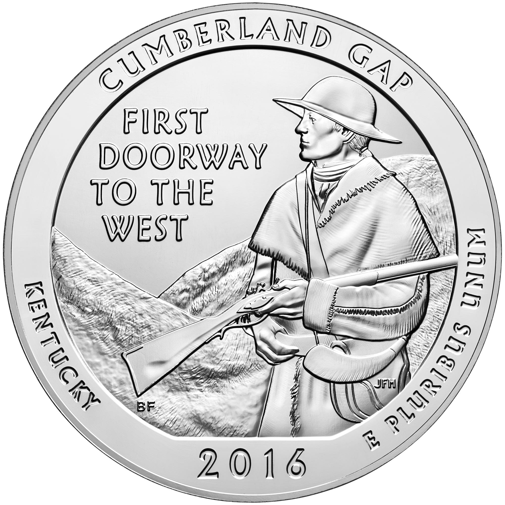 Silbermünze Cumberland Gap Park 5oz 2016
