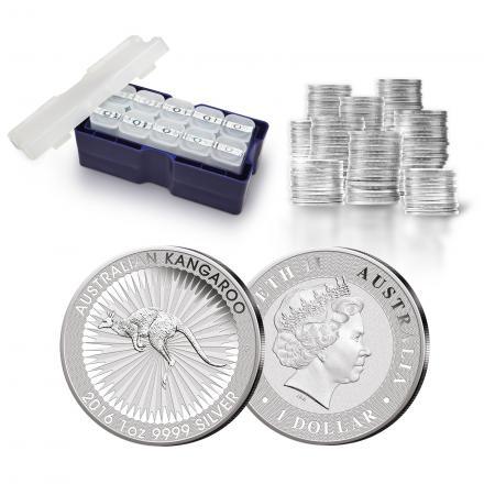 Känguru Silbermünzen der Perth Mint - werden masterboxenweise gekauft